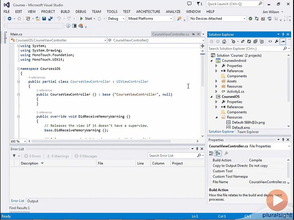 Building Cross-Platform iOS Android Apps with Xamarin, Visual Studio, and C# – Part 1