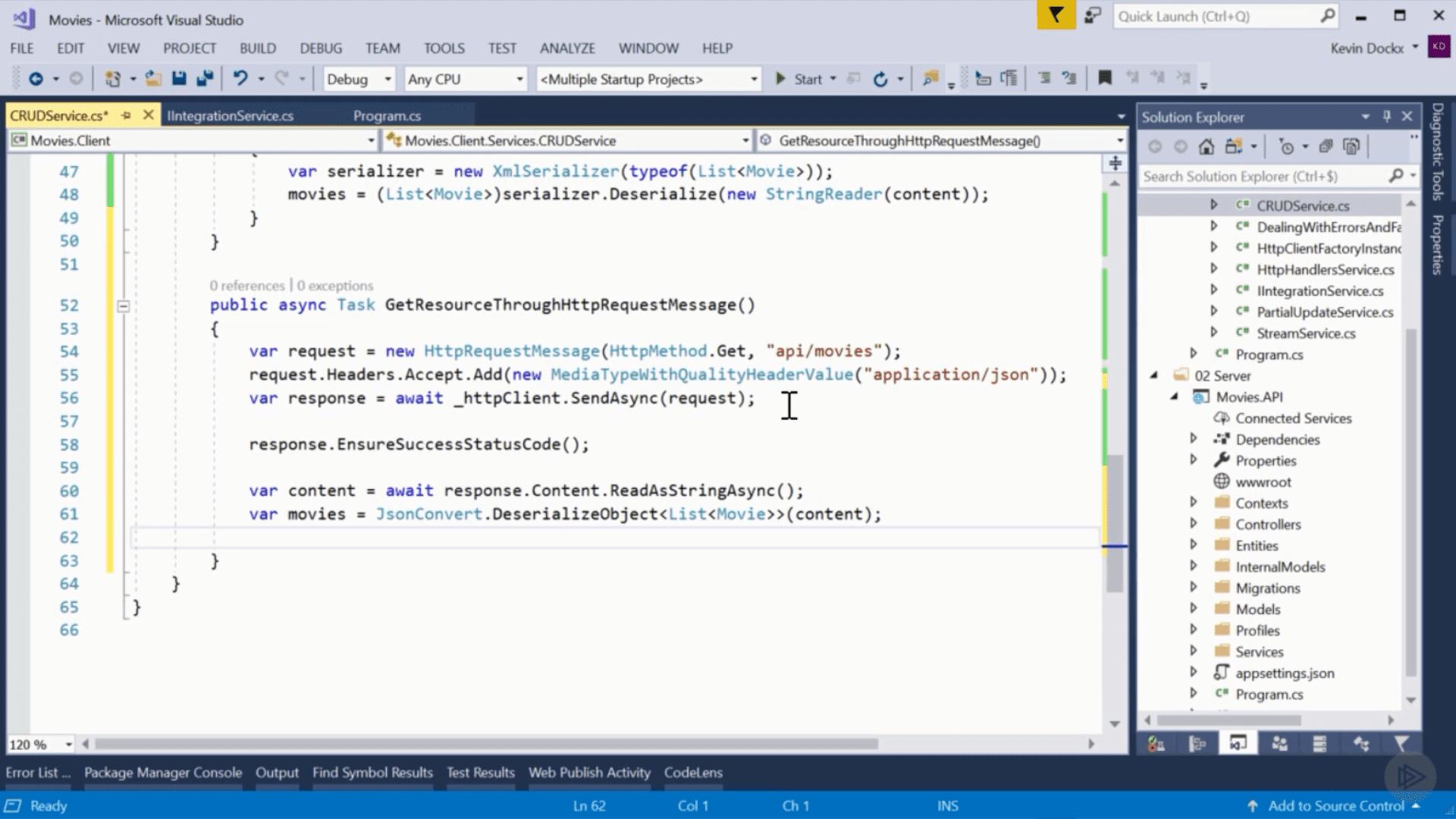 Using HttpClient to Consume APIs in .NET Core snapshot